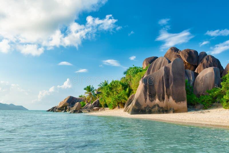 Anse źródło d'argent w Seychelles zdjęcie royalty free