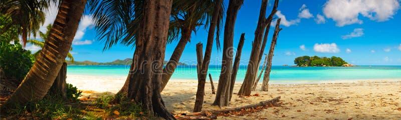 anse παραλιών αυγής ινδική νησιών τροπική όψη των Σεϋχελλών praslin του Λάτσιο ωκεάνια πανοραμική στοκ φωτογραφίες με δικαίωμα ελεύθερης χρήσης