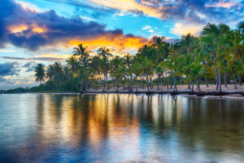 Anse Chamapgne in Guadeloupe stock photography