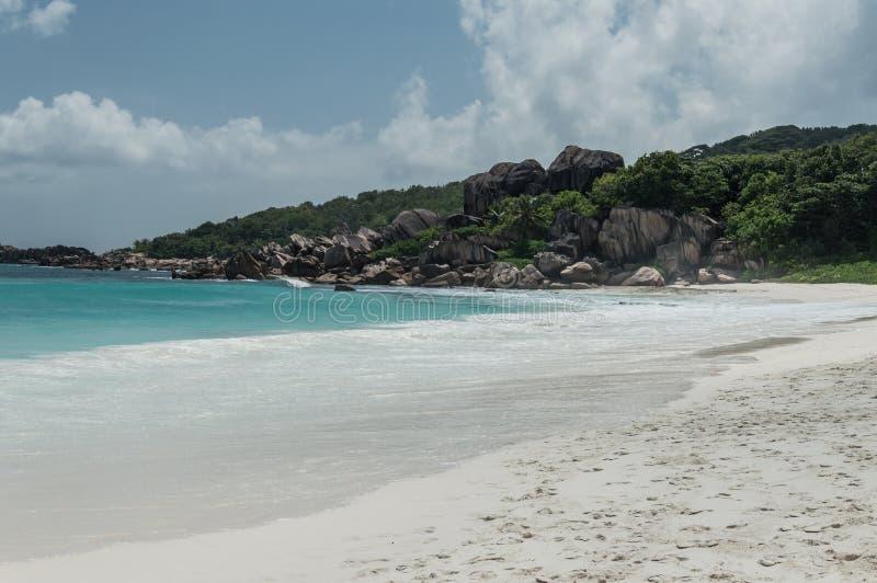anse digue uroczysty los angeles Seychelles obraz stock
