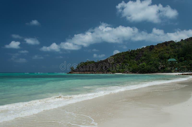 Anse Gouvernement w Praslin, Seychelles obrazy royalty free