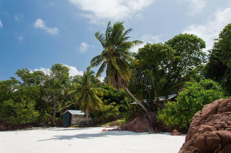 Anse Gouvernement w Praslin, Seychelles fotografia stock