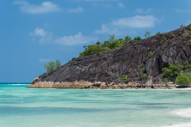 Anse Gouvernement w Praslin, Seychelles zdjęcia royalty free