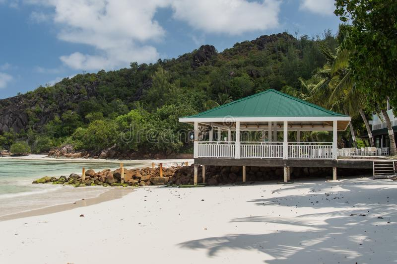 Anse Gouvernement w Praslin, Seychelles fotografia royalty free