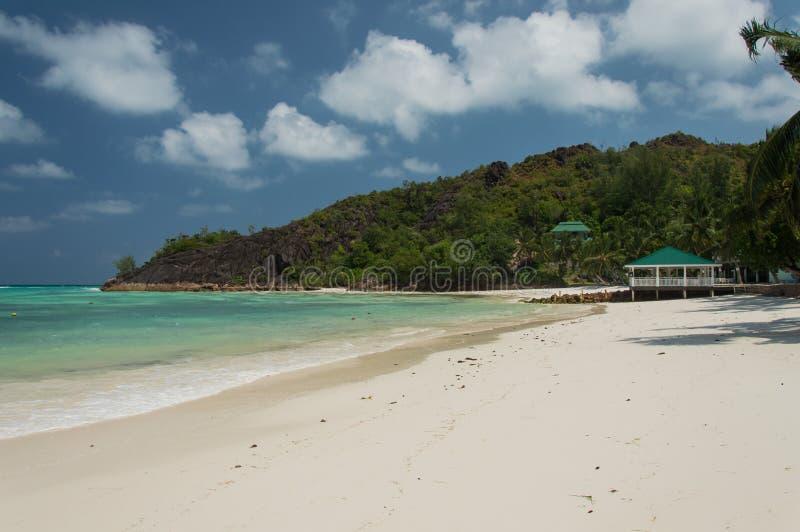 Anse Gouvernement w Praslin, Seychelles zdjęcie stock