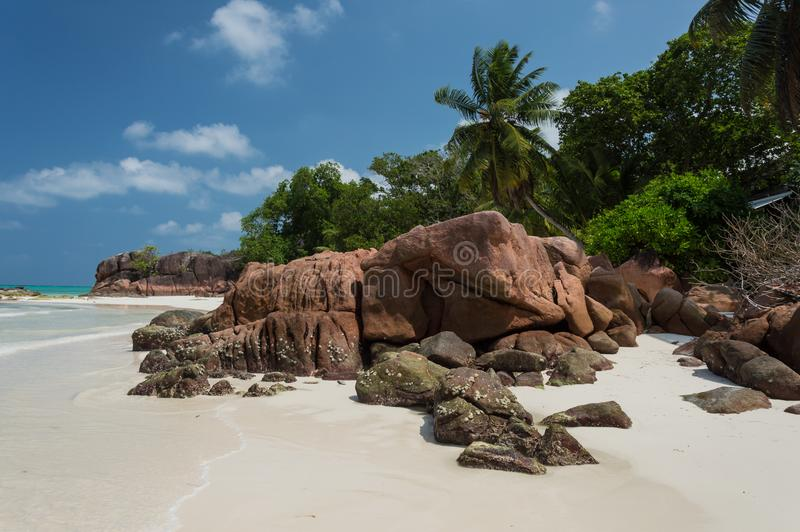 Anse Gouvernement w Praslin, Seychelles obraz royalty free
