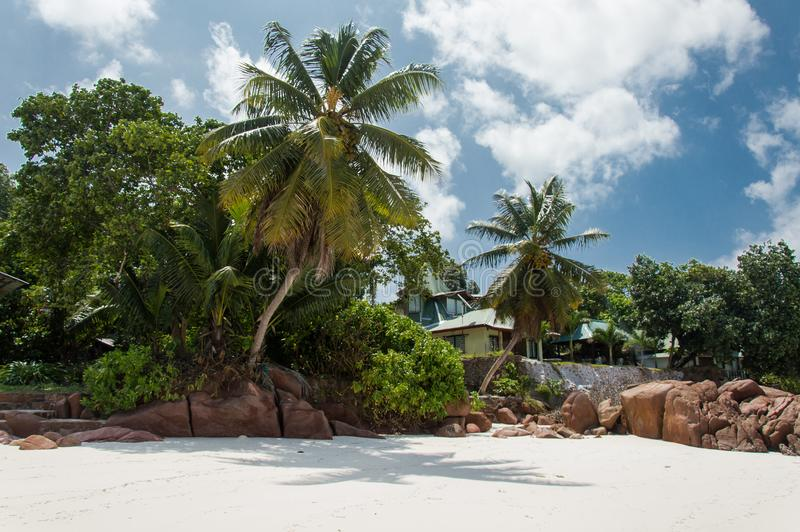 Anse Gouvernement w Praslin, Seychelles obrazy stock
