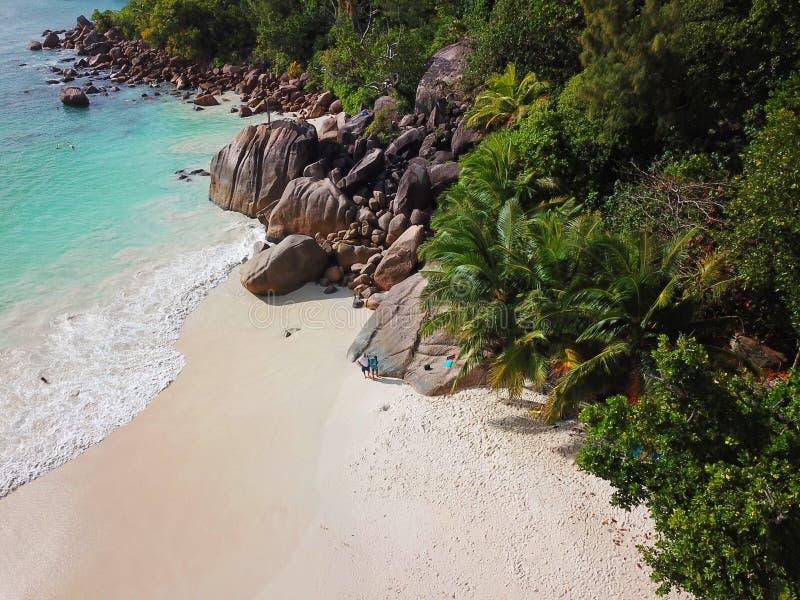 Anse Lazio przy Seychelles zdjęcia stock