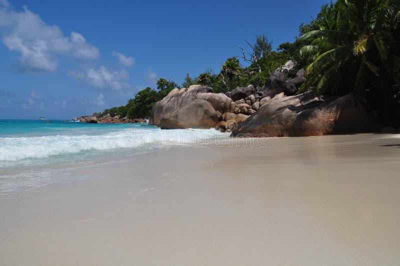 Anse Lazio, Seychellerna, Praslin ö arkivfoto