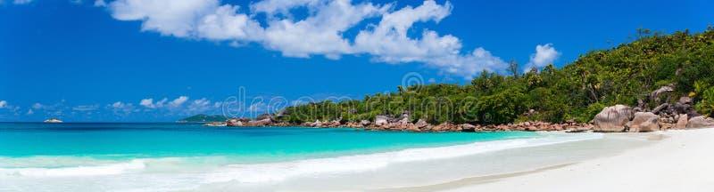 Anse Lazio Strand in Seychellen lizenzfreie stockbilder