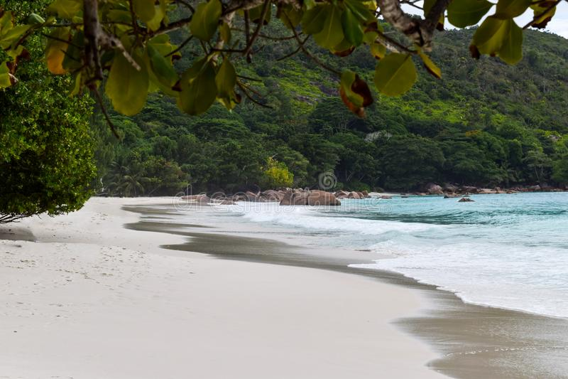 anse plażowy Lazio Seychelles obraz royalty free
