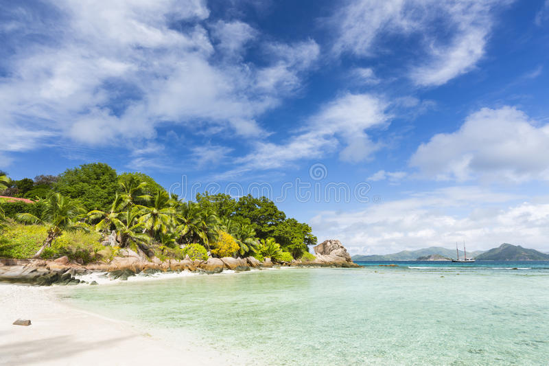 Anse severo, La Digue, Seychelles fotografia stock
