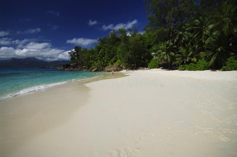 Anse Soleil With Beautiful Sandy Beach, Seychelles, Seychelles Editorial Photography