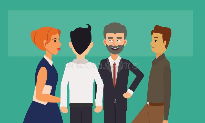 Anseende och samtal för grupp för affärsfolk royaltyfri illustrationer