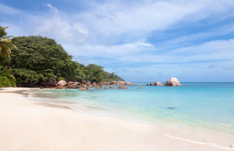 ansestrand lazio tropiska seychelles royaltyfria bilder