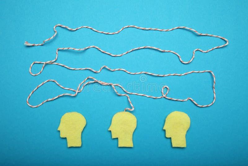 Ansia del cervello umano, ammasso e concetto di caos Concentrazione mentale immagini stock