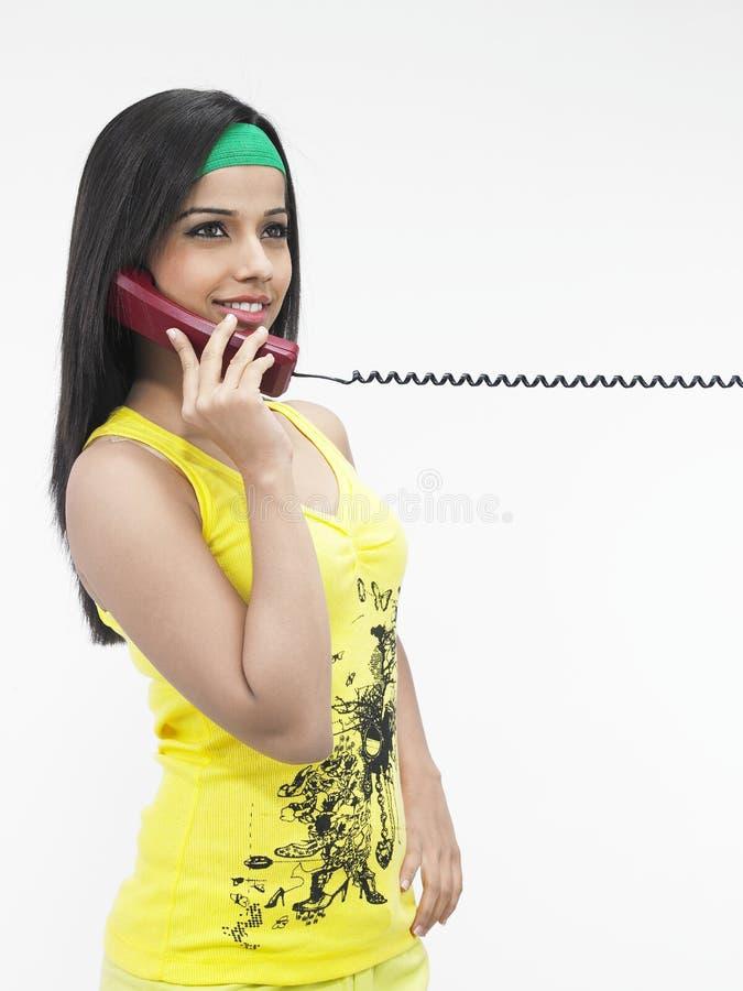 ansian dziewczyny telefonu target329_0_ obraz stock