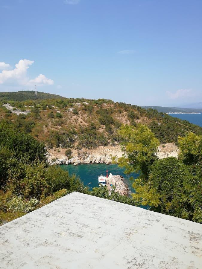 Ansicht über adriatisches Meer stockbild
