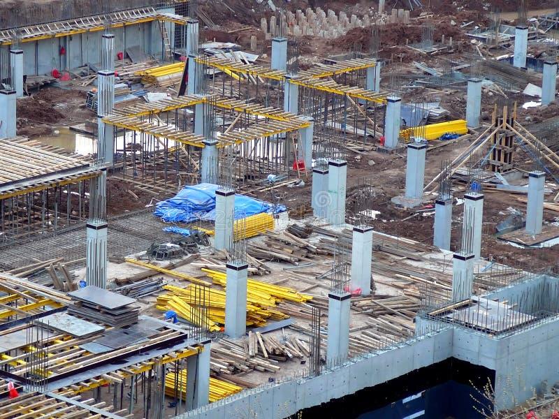 Ansicht über Baustelle stockbild