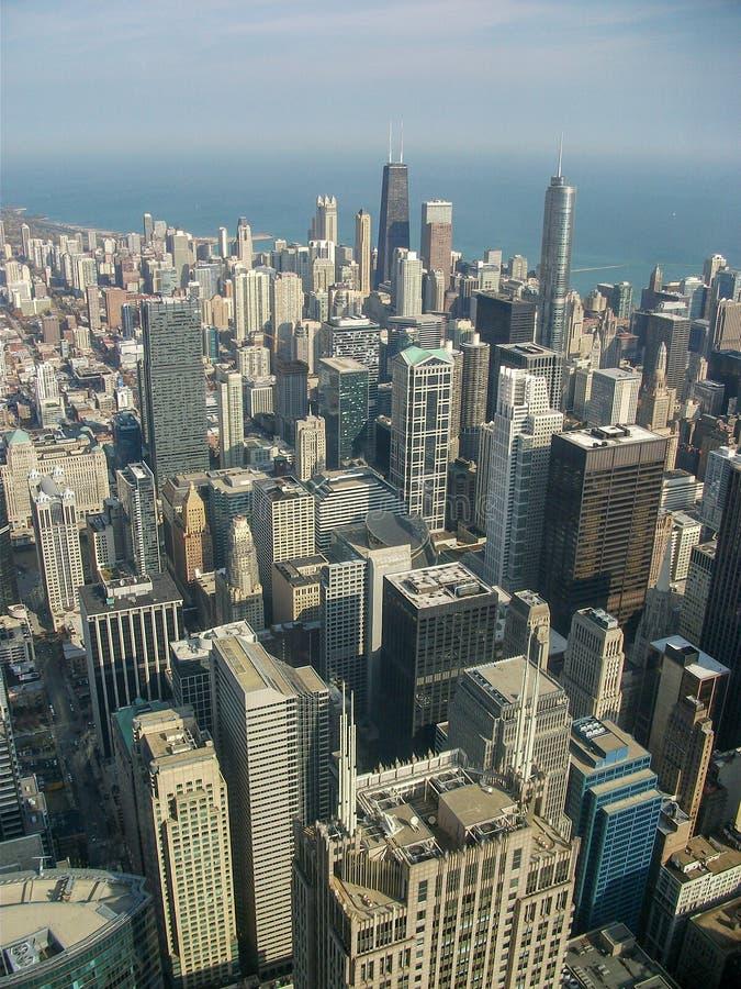 Ansicht über Chicago-Stadt stockfotografie