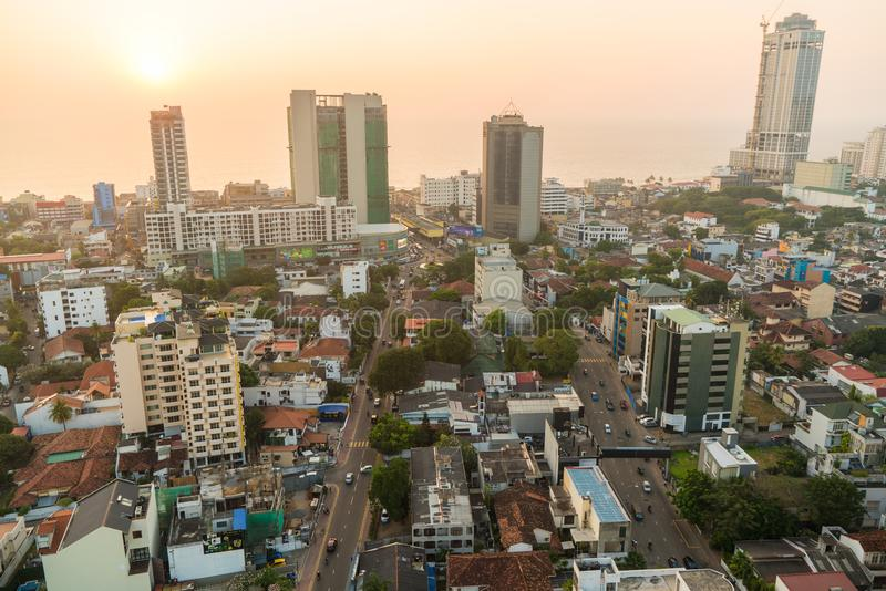 Ansicht über Colombo, Sri Lanka lizenzfreies stockfoto