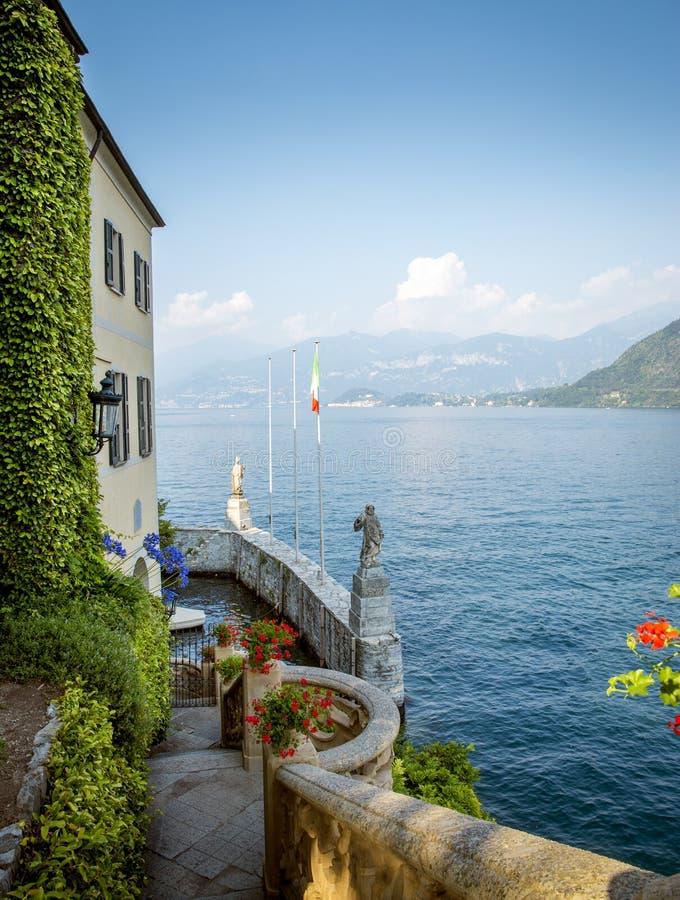 Ansicht über Como See, Italien lizenzfreies stockfoto