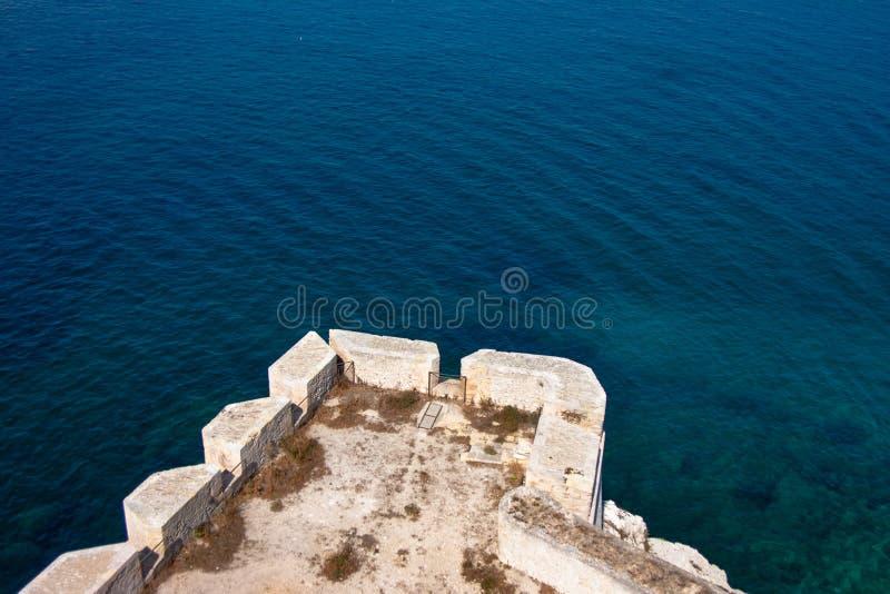 Ansicht über das Meer, Frankreich stockfoto