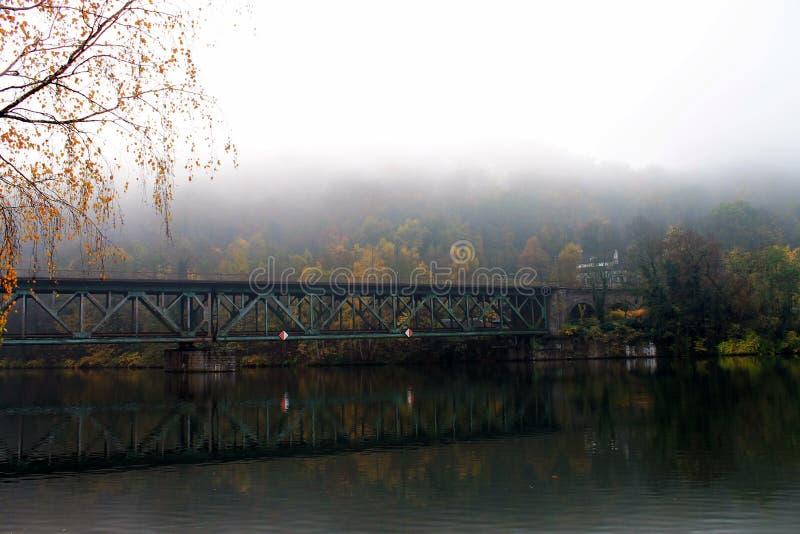 Ansicht über das Reservoir bei Kettwig stockfoto