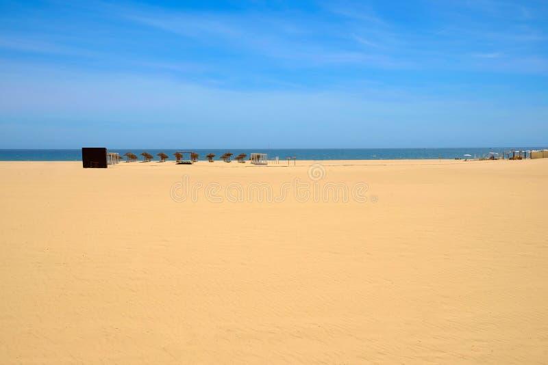 Ansicht über den Strand Praia DA Rocha in Portimao, Algare-Region, Portugal stockfotos