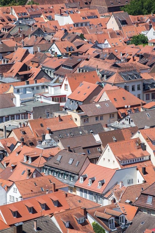 Ansicht über die bayerische Stadt von Heidelberg lizenzfreie stockfotos