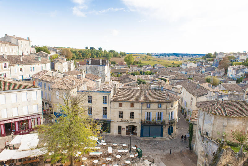 St. Emilion, Frankreich stockfotos