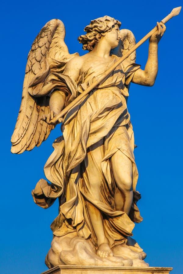 Ansicht über die Engelsstatue durch Bernini stockbild