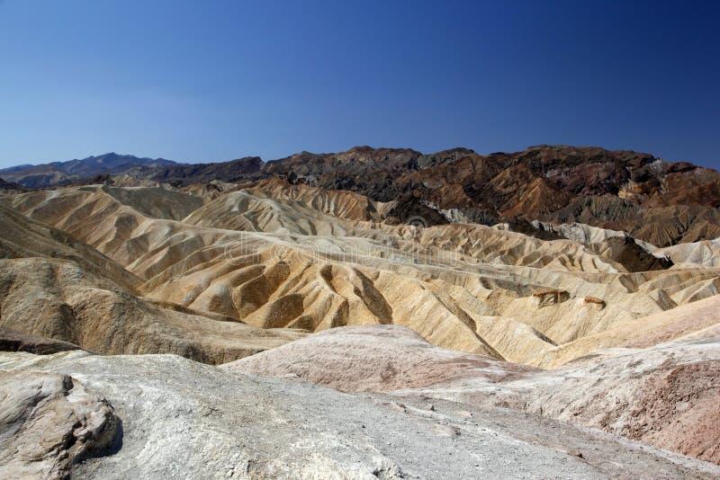 Ansicht über die goldene Schlucht in Nationalpark Death Valley lizenzfreies stockbild