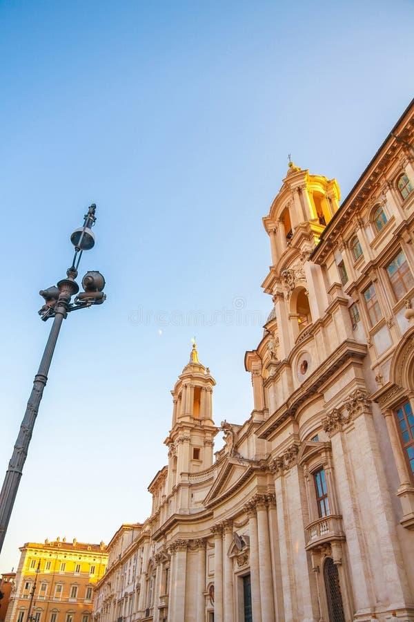 Ansicht über die Kirche Sant Agnese in Rom stockfoto