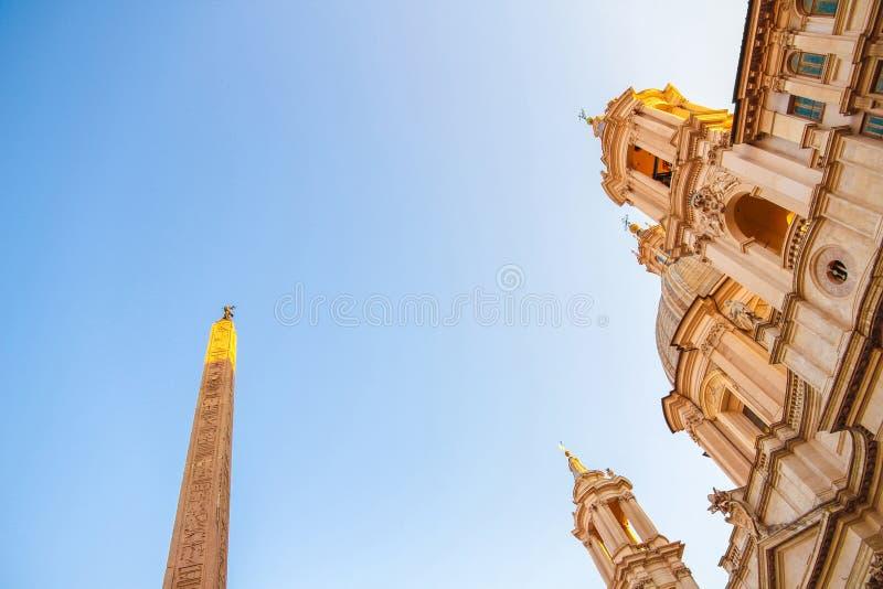 Ansicht über die Kirche Sant Agnese in Rom lizenzfreies stockfoto