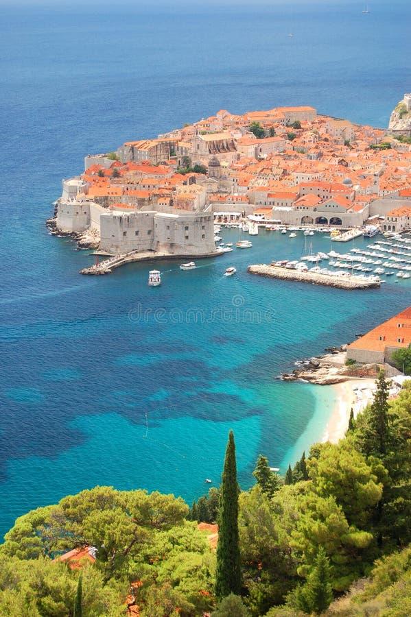 Ansicht über Dubrovnik lizenzfreie stockbilder