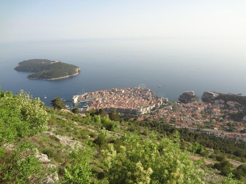 Ansicht über Dubrovnik, Kroatien lizenzfreie stockfotografie