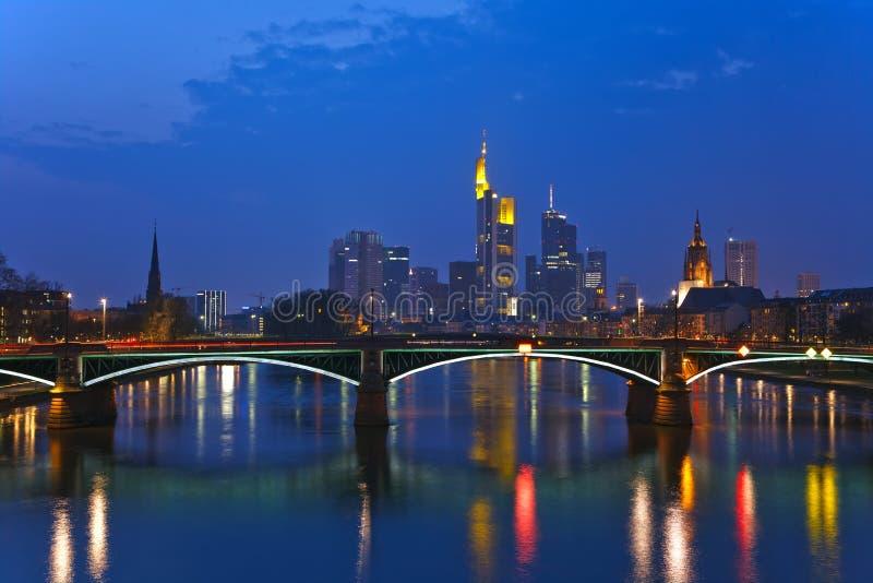 Ansicht über Frankfurt-am-Main stockbilder