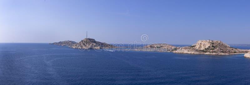 Ansicht über Frioule-Inseln, Frankreich stockfoto