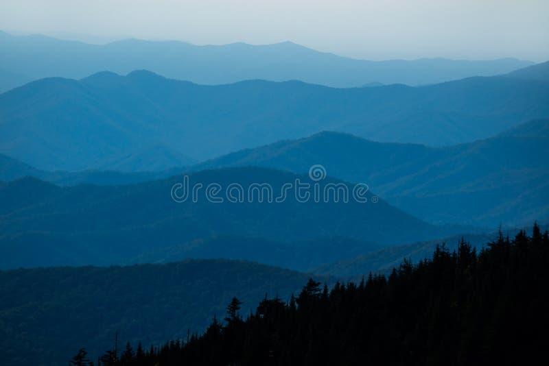 Ansicht über Great Smoky Mountains stockfoto