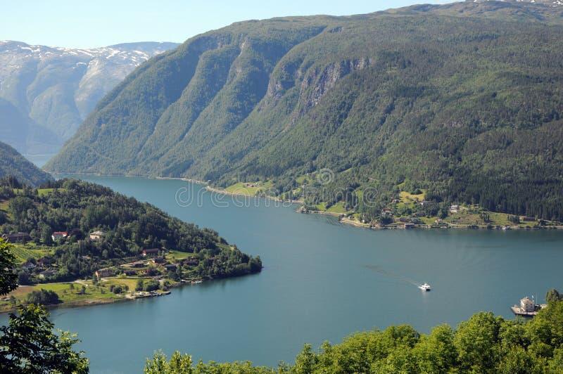 Ansicht über Hardangerfjord, Norwegen lizenzfreies stockbild