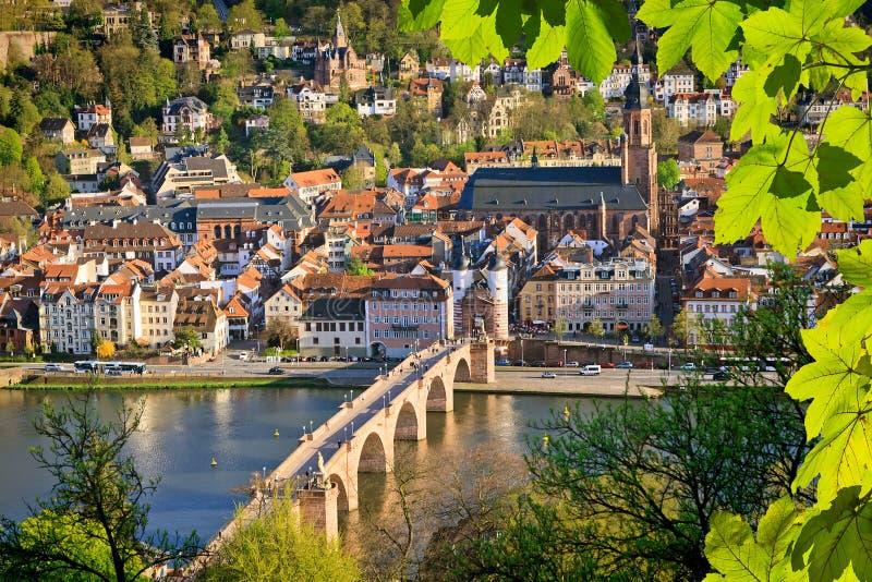 Ansicht über Heidelberg lizenzfreie stockfotos
