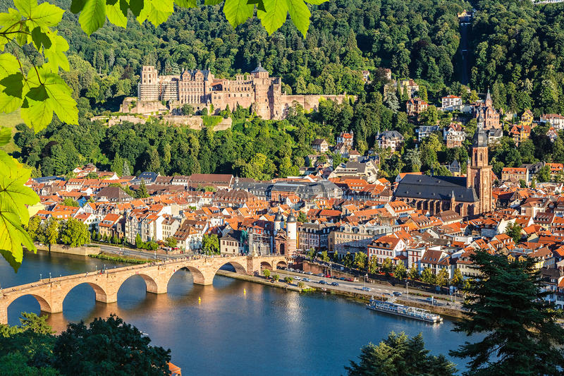 Ansicht über Heidelberg lizenzfreie stockfotografie