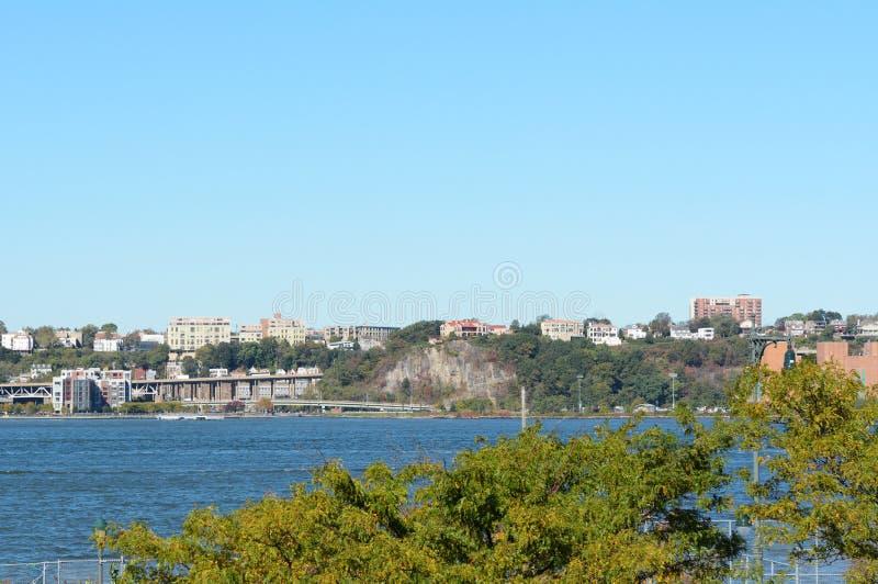 Ansicht über Hudson River zu Weehawken, New-Jersey stockbilder