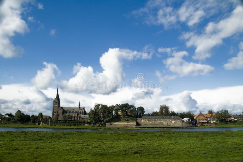 Ansicht über Kessel, Die Niederlande Stockfoto - Bild von blau ...