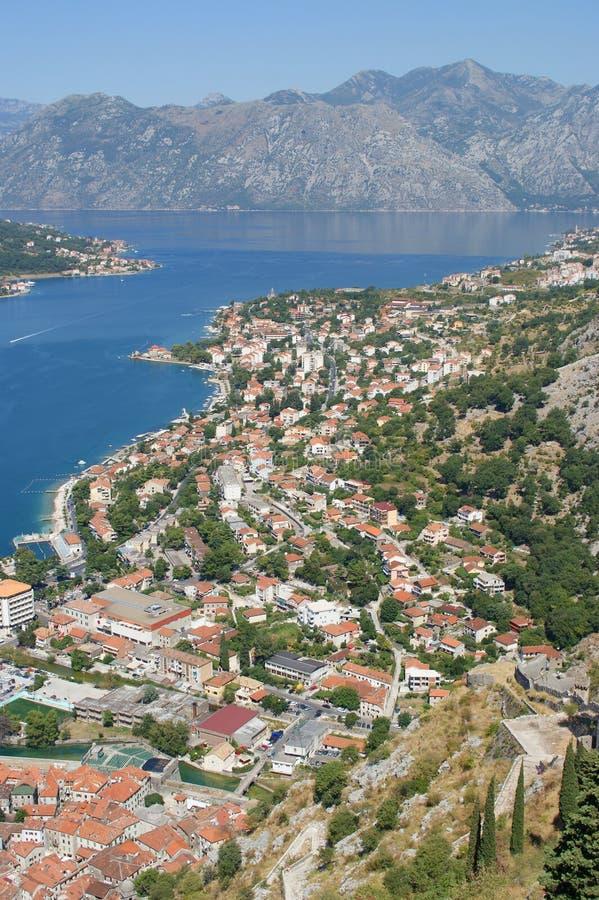 Ansicht über Kotor, Montenegro stockfotos