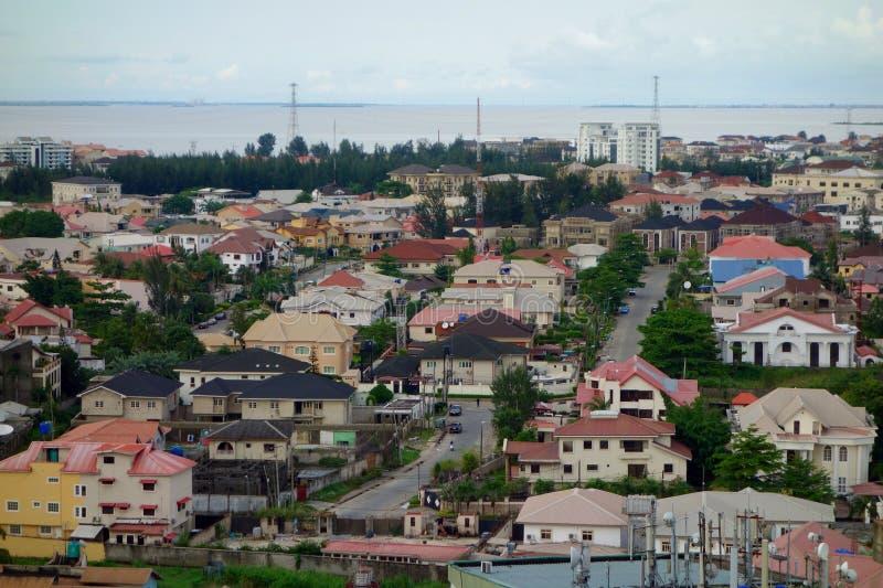 Ansicht über Lagos stockfotografie