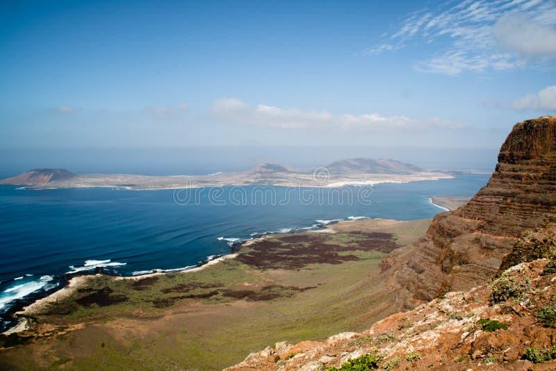 Ansicht über Lanzarote lizenzfreies stockfoto