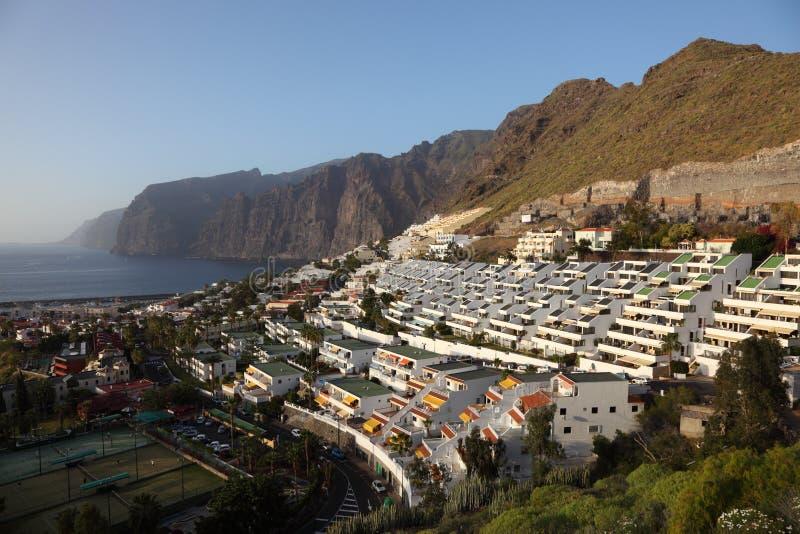 Ansicht über Los Gigantes, Tenerife stockbild