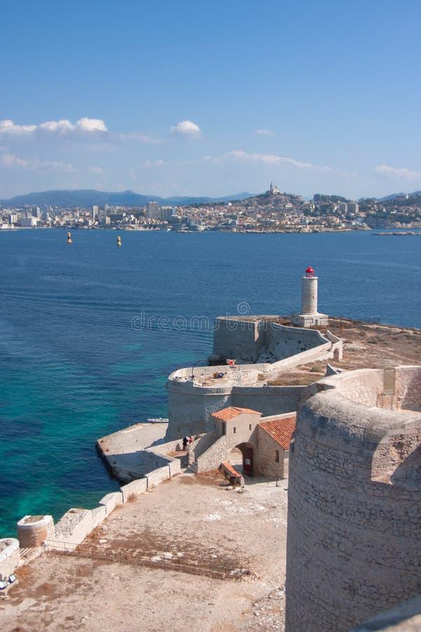 Ansicht über Marseille-Chateau d 'wenn, Frankreich lizenzfreies stockfoto